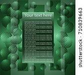 abstract green vector... | Shutterstock .eps vector #710839663