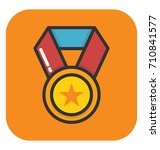 medal vector icon | Shutterstock .eps vector #710841577