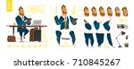 stylized characters set for... | Shutterstock .eps vector #710845267