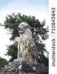 lion of amphipolis  amphipolis  ...   Shutterstock . vector #710845843