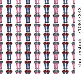 vector blue polka dot wellies... | Shutterstock .eps vector #710847343
