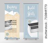 business roll up design... | Shutterstock .eps vector #710849773
