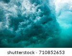 wave underwater. blue ocean in... | Shutterstock . vector #710852653