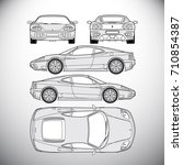 automobile.template for graphic ... | Shutterstock . vector #710854387