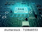 microchip processor with text... | Shutterstock . vector #710868553