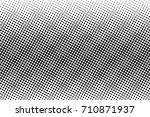 black and white dotted halftone ... | Shutterstock .eps vector #710871937