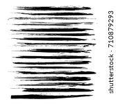 black long brush strokes... | Shutterstock .eps vector #710879293