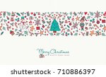 merry christmas and happy new... | Shutterstock .eps vector #710886397
