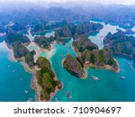 cat ba island from above. lan... | Shutterstock . vector #710904697