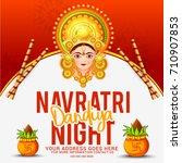 creative poster or flyer of... | Shutterstock .eps vector #710907853