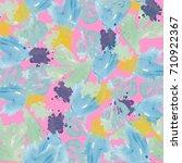 abstract watercolor flower... | Shutterstock . vector #710922367
