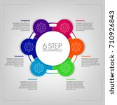 circle step info graphics | Shutterstock .eps vector #710926843