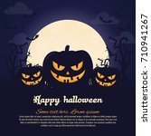 halloween poster. invitation... | Shutterstock .eps vector #710941267
