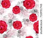 seamless pattern floral design. ... | Shutterstock . vector #710951743