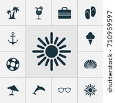sun icons set. collection of... | Shutterstock .eps vector #710959597