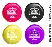 cake multi color glossy badge...