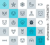 zoology icons set. collection... | Shutterstock .eps vector #710962873