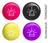 siren multi color glossy badge...