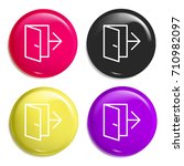 exit multi color glossy badge...