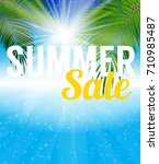 summer sale banner template for ... | Shutterstock . vector #710985487