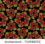 traditional russian seamless...   Shutterstock .eps vector #710988253