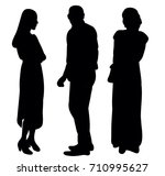 silhouette people  on white... | Shutterstock .eps vector #710995627