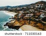 laguna beach coastline | Shutterstock . vector #711030163