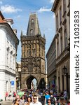 prague  czech republic   june... | Shutterstock . vector #711032833