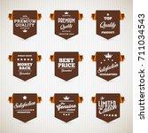 vector vintage sale labels set... | Shutterstock .eps vector #711034543