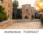 ancient stone streets in old... | Shutterstock . vector #711041617