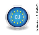eu logo. european union button | Shutterstock .eps vector #711047083