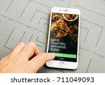 paris  france   sep 26  2016 ...   Shutterstock . vector #711049093