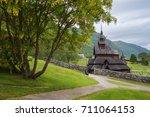 borgund stave church   oldest...   Shutterstock . vector #711064153