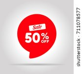 special offer sale red tag.... | Shutterstock .eps vector #711078577