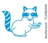 racoon animal cartoon | Shutterstock .eps vector #711081043