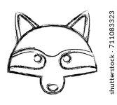 racoon animal cartoon | Shutterstock .eps vector #711083323