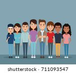 friendship cartoon design | Shutterstock .eps vector #711093547