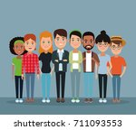 friendship cartoon design | Shutterstock .eps vector #711093553