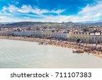 Panoramic View Of Beach In...