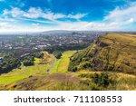 cityscape of edinburgh from...   Shutterstock . vector #711108553