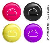 cloud multi color glossy badge...