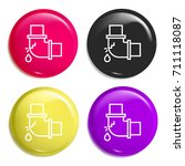 pipe multi color glossy badge...