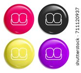 teeth multi color glossy badge... | Shutterstock .eps vector #711120937