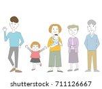 family illustrations   Shutterstock .eps vector #711126667