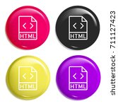 html multi color glossy badge...