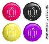 pepper multi color glossy badge ...