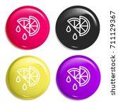 lemon multi color glossy badge...