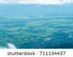 beautiful green field from the... | Shutterstock . vector #711134437