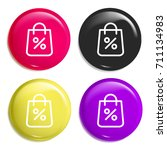 shopping bag multi color glossy ...