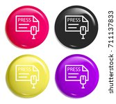 press multi color glossy badge...